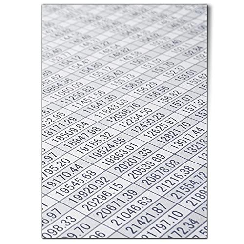 DV design 1 póster A1 – Lámina de cálculo con celdas contables para computadora de pared, póster grande # 24247