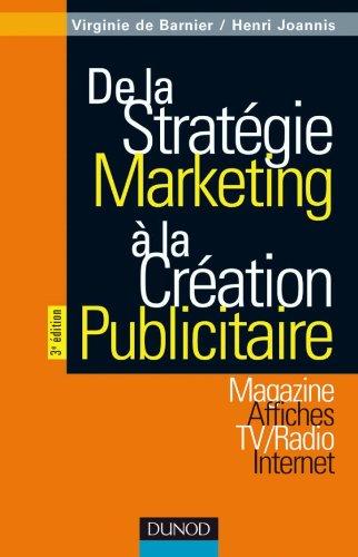 De la stratégie marketing à la création publicitaire...