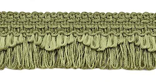 DecoPro décoratifs Vert Brume festonné Boucle Frange/Tresse, 4 cm, Style # 9115 Couleur : L47 (G16) (Vendu par la Cour (0,9 m = 91 cm/0,9 m/91,4 cm)