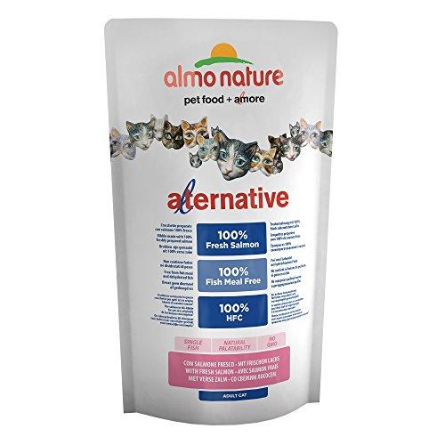 almo nature Almo Alternative Cat Secco Salmone RIS GR. 750 Cibo Secco per Gatti