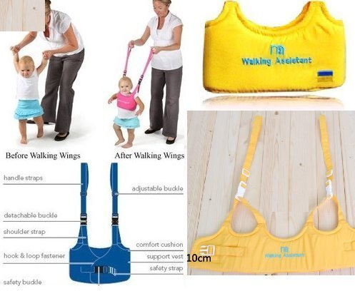 Baby Toddler Walking Assistant Learning to Walk Harness Walker for 6-18 Months Yellow