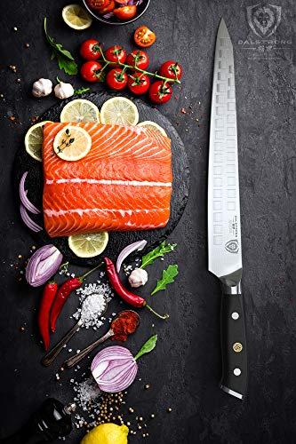"DALSTRONG Ultimate Slicing Knife - The""Tokugawa"" - 10.5"" Shogun Series Sujihiki -Damascus - AUS-10V Japanese Super Steel - w/Sheath - Meats - Fish - Sushi - Sashimi - BBQ"