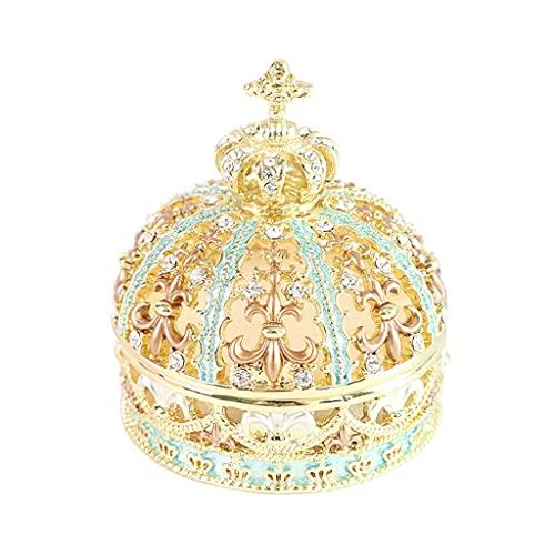 ZWS Joyero Caja de joyería, Caja de Almacenamiento de Joyas de Anillo de la Princesa del Taladro Hueco, Caja de Almacenamiento de Joyas de joyería de Matrimonio Caja de joyería (Color : B)