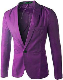 Wamvp Mens Blazer Casual Stylish Slim Fit Suit Jacket Classic Business Coat
