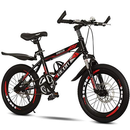 Axdwfd Infantiles Bicicletas Niños Bicicleta Al Aire Libre, para 9-14 Años, Niños, Niños, Niñas, Niños, Bicicleta De Montaña, Rojo, Blanco, Azul (Color : Red)