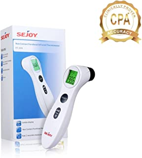 Medical Forehead Digital Thermometer, Advanced Fast No-Contact Infrared Technology, for Newborn Infant, Baby, Toddler, Adults, Seniors, 2 Modes: Body & Surface Temperature, FDA & CE Approved
