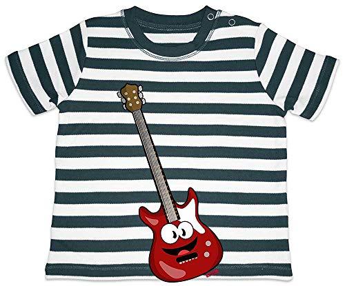 Hariz - Camiseta para bebé, diseño de rayas de guitarra eléctrica, con...
