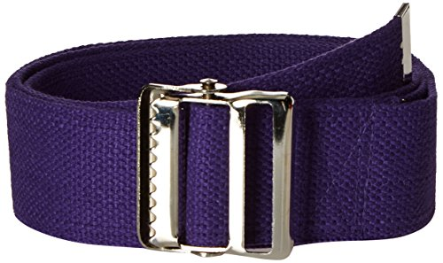 Prestige Medical Cotton Gait Belt with Metal Buckle, Purple
