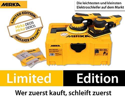 MIRKA Elektro-Exzenter DEROS DEROS5650CV 5mm 150mm + DEOS Elektro-Schwingschleifer 3 mm 81x133mm