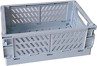 S-TROUBLE Caisse Pliable en Plastique boîte de Rangement Pliante Panier Utilitaire conteneur cosmétique Support de Bureau ...