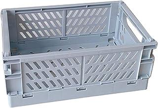 JHD Caisse Pliable en Plastique boîte de Rangement Pliante Panier Utilitaire conteneur cosmétique Support de Bureau Usage ...