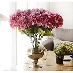 Youngman 5 Heads Hydrangea Beautiful Artificial Flower Bunch Bouquet Home Wedding Decor