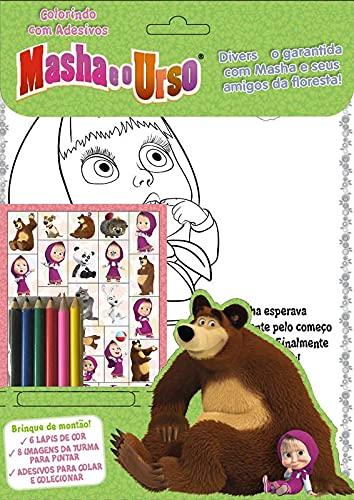 Masha e o Urso: Colorindo com Adesivos