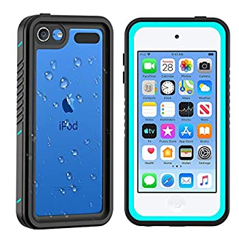 iPod 5 iPod 6 iPod 7 Waterproof Case Re-Sport Shockproof Dirtproof Snowproof Full-Body Protective Case Cover Built-in Screen Protector Compatible iPod Touch 5th/6th/7th  Blue