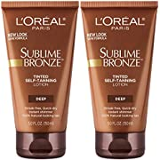 L'Oreal Paris Skincare Sublime Bronze Tinted Self-Tanning Lotion, Sunless tanning lotion, 2 count