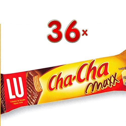 LU Cha-Cha Caramel Maxx 36 x 34,3g Packung (Waffel mit Karamell gefüllt und mit Schokolade umhüllt)