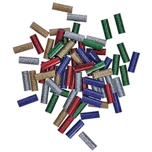 Bosch 2608002006 Mini Sticks Glitzer 70tlg. (Glitzernde Klebesticks, Zubehör für Heißklebestift Gluey)