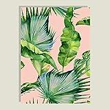 WSWWYPlante el Cartel de la Hoja Verde e imprima Letras Negras Arte de la Pared Pintura de la Lona Sala de Estar Mural A 30x40cm Sin Marco