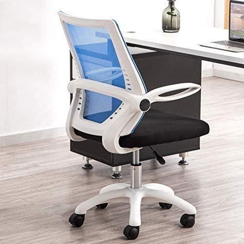 Elegante silla oficina, silla giratoria Cómoda silla de malla acolchada   Silla de escritorio giratorio   Handrai giratoria de 90 °   para escritorios para computadora de oficina   Alta capacidad de c