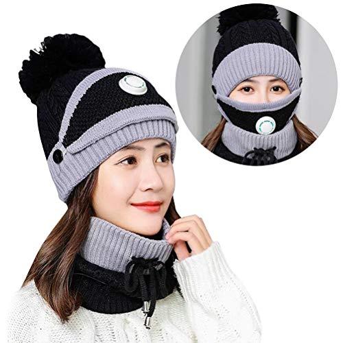 shenruifa 2021 Bonnet d'hiver chaud en tricot avec pompon pour femme