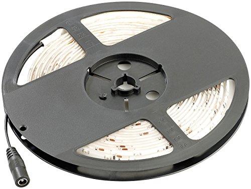 Lunartec LED Strips: LED-Streifen LE-500MN, 5 m, warmweiß, Innenbereich (LED Lichtstreifen)