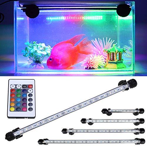 LED-licht lamp IR-afstandsbediening aquarium licht IP68 waterdichte LED onderwateraquarium licht aquariumlamp 28 cm.