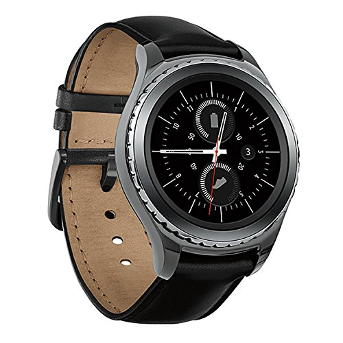Samsung Gear S2 Classic Smartwatch w/Rotating Bezel and Leather Strap - Black 3