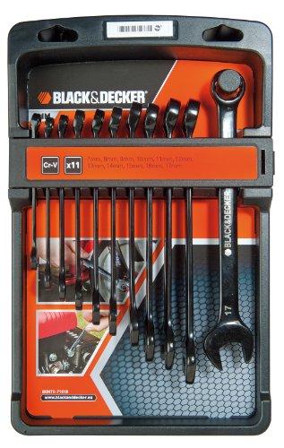 Black & Decker BDHT0-71618 Set 11 Chiavi Combinate, Nero