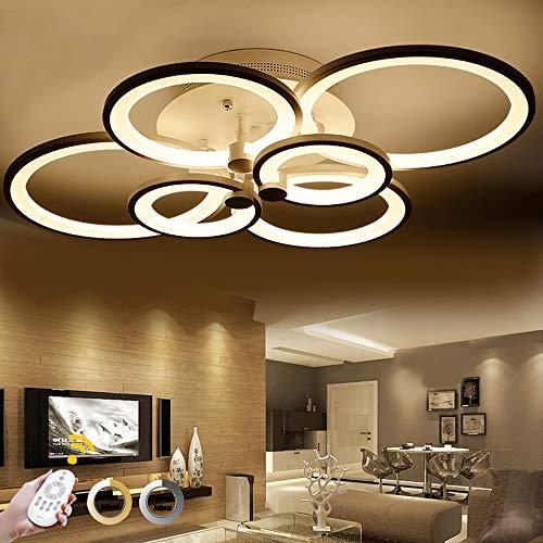 ONLT LED Moderne Plafonnier,LED panneau lumineux moderne lampe Plafonnier Lustre Bureau,LED Acrylique Lampe de plafond,Bureau,Salle À Manger, Salon et de Restaurant (Dimmable, 4 têtes)