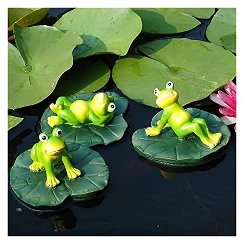 YANRUI 3 stück Frosch Statue Dekoration Tier skulptur Dekoration armbehälter Ornamente Outdoor Garten teich Floating Handwerk Harz Tier Figuren