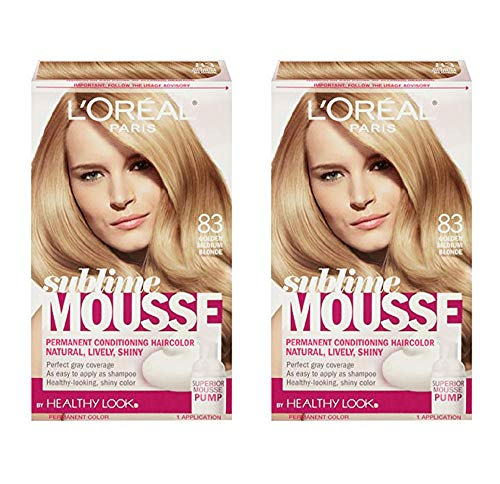 L'Oreal Paris Sublime Mousse by Healthy Look Hair Color 83 Golden Medium Blonde (2-Pack)