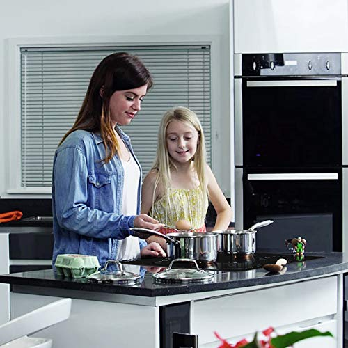 COOKPAD Induction Hob 4 Rings, Built in Electric Hob, 60cm Induction Cooktop with Crystal Black Glass Panel, Child Lock…