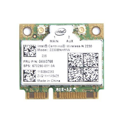Intel Centrino 2230 N-2230 2230BNHMW kabellos-N MiniPCIe Half FunkNetz Karte 4.0 Bluetooth IEEE 802.11b/G/N 300Mbps 2230BNHMW für IBM Thinkpad Edge Series (Edge E531)