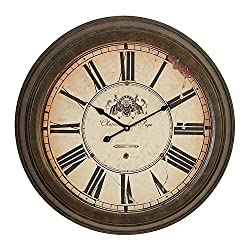 Deco 79 Metal Wall Clock Dial Makes it Real Antique