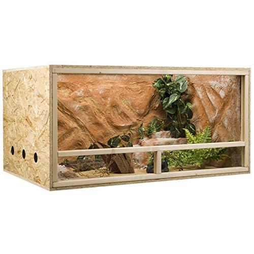 Holzkonzept OSB-Terrarium 120 x 80 x 60 cm Seitenbelüftung