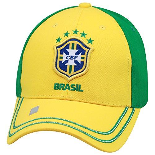 Rhinox Brasil 2014 World Cup Yellow/Green Adjustable Buckle Hat/Cap