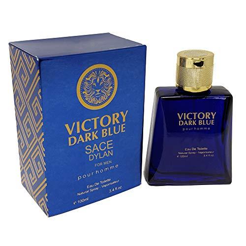 J&H VICTORY DARK BLUE Cologne, Eau de Toilette Spray for Men, Mediterranean Freshness, Wonderful Gift, all Skin Types, a Classic Bottle, 3.4 Fluid Ounce