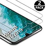 FUMUM [2 Stück] 2,5D Kristallklar Panzerglas Huawei Y6 2019 Schutzglas, Premium 9H Full Cover Schutzfolie für Huawei Y6 2019 Folie [Nano HD Anti-Fingerabdruck]
