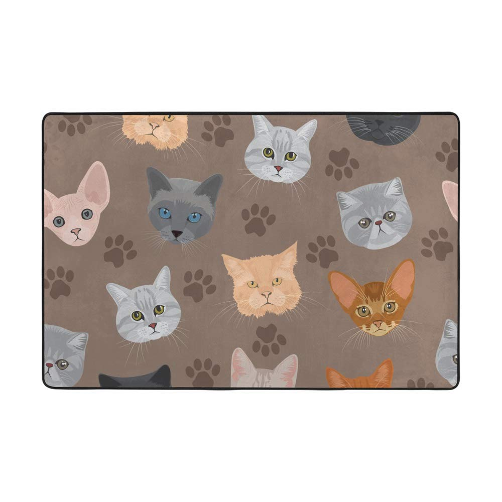 Soft Rug Large Area Over item handling Rugs Cat Seamless C Indoor At the price of surprise Head Comfortable