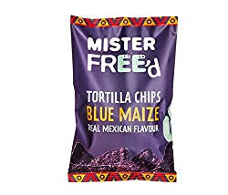 Blue maize real Mexican flavour tortilla chips Made with simple, natural ingredients Perfect for school lunch bags and snacks