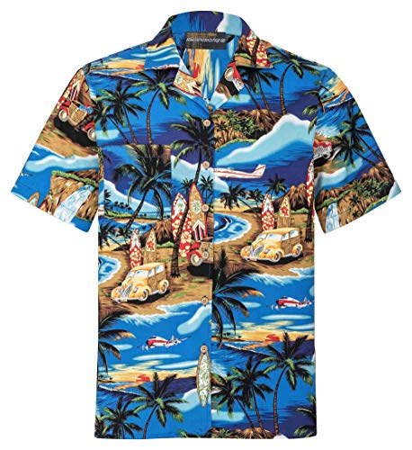Camicia Hawaiana | Uomo | Vintage | 100% Cotone | Taglia S - 8XL | Versioni Diverse | Manica Corta | Spiaggia | Tramonto | Paradiso | Aloha | Hawaii | Hawaiiana