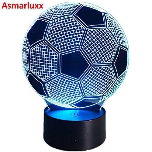 Sostituzione della lampada 3D Illusion Soccer Night Light Luci visive 3D Desk Football Lamp 3