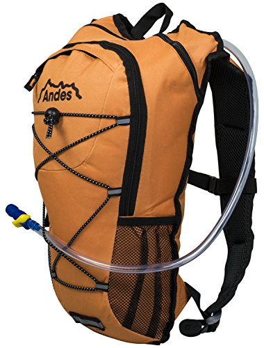 Andes 2 Litre Bright Orange Hydration Pack/Backpack Running/Cycling with Water Bladder/Pockets