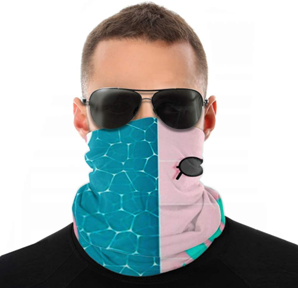Headbands For Men Women Neck Gaiter, Face Mask, Headband, Scarf Beach Things Paper Art Style Pastel Turban Multi Scarf Double Sided Print Head Wraps For Sport Outdoor