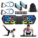 WINWEND Push up Board, 20 in 1 Faltbares Liegestütze Brett, Multifunktionale Fitness Geräte Push Up Board, Muskelboard für Gym Home Training