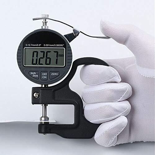 0.001 mm - Metro de espesor digital digital con micrometro digital LCD portátil, rango 0 – 12,7 mm, precisión 0,001 m