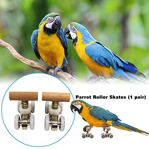 Luckycyc Parrot Roller Skates, Bird Puzzle Toys Parrot Trick Tabletop Toy Mini Roller Skates Toy Intelligence Training Toys for Small Medium Parrots Bird