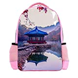 Cartoon Delfin mit Schleife Muster Schulbuch Tasche für Mädchen Jungen Reiserucksack Casual Daypack Laptoptaschen für Männer Frauen, Multi 20,