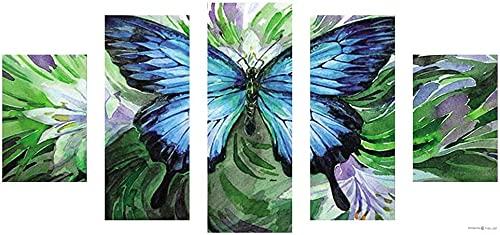 Pintura de diamante 5D con 5 juegos de empalme de pintura Rin – S Crafts decoración de pared para el hogar, imágenes bordadas, alivio de ansiedad, tiempo de matanza.