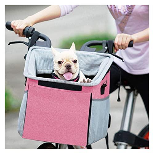 WAFFZ Cestino per bicicletta per cani e gatti di piccola taglia impermeabile per manubrio della bicicletta a sgancio rapido, facile da installare, staccabile e pieghevole borsa della spesa